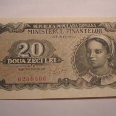 20 lei 1950 XF++ - Bancnota romaneasca