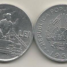 ROMANIA 20 LEI 1951 [3] XF++, livrare in cartonas - Moneda Romania, Aluminiu