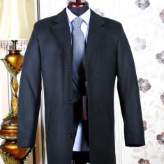 Palton barbati, black, Slim Fit, Ucu Dima, Cod :Palton B.614 black (Culoare: Negru, Marime palton: 56)