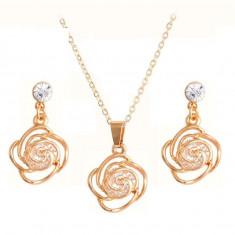 Bijuterii crystal flower - Set bijuterii handmade si fashion