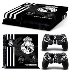 Skin / Sticker Real Madrid Playstation 4 PS4 SLIM si Fat R01, Huse si skin-uri
