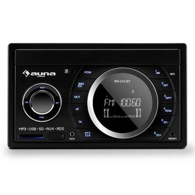 Stereo auto Auna MD-210 BT RDS Bluetooth FM USB SD AUX MP3 microfon 2-DIN 4x75W foto