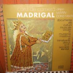 -Y- CORUL DE CAMERA MADRIGAL - MUNTENIA / MOLDOVA - Muzica Clasica, VINIL