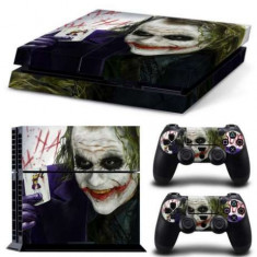 Skin / Sticker joker Playstation 4 PS4 FAT / SLIM + 2 Skin controller PS4, Huse si skin-uri