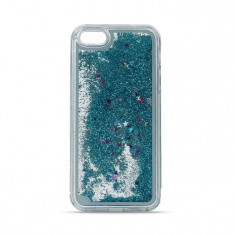 Husa APPLE iPhone 4\4S - Glitter Lichid (Albastru) - Husa Telefon