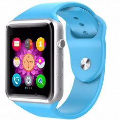 Smartwatch cu Telefon iUni A100i, BT, LCD 1.54 Inch, Camera, Albastru + Spinner Titirez Cadou