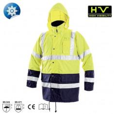 Jacheta iarnă vizibilitate înaltă Roadsafe - Jacheta barbati, Marime: M, L, XXL, XXXL, Culoare: Galben, Poliester