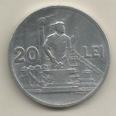 ROMANIA 20 LEI 1951 [7] livrare in cartonas - Moneda Romania, Aluminiu