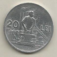 ROMANIA 20 LEI 1951 [6] livrare in cartonas - Moneda Romania, Aluminiu