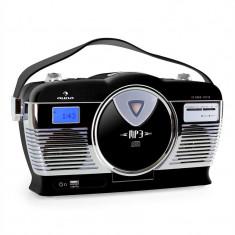 Radio portabil Retro Vintage Auna RCD-70 culoare neagră - CD player