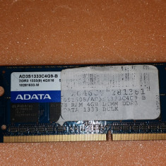 Memorie Laptop ADATA Sodimm DDR3 4 GB 1600 Mhz PC3-12800 MHz - Memorie RAM laptop