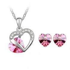 Set bijuterii True Rose Hearts - Set Swarovski