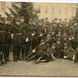 Militaria promotia Regele Ferdinand elevi, ofiteri - 1927 Emil Fischer Sibiu - Fotografie veche