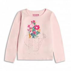 Bluza roz cu imprimeu floral