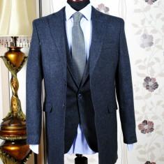 Palton barbati, gri, Slim Fit, Ucu Dima, Cod:Palton B.296-3030 Gri inchis (Culoare: Gri, Marime palton: 52)