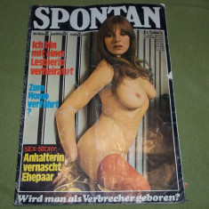 Revista erotica Spontan Germania 1974 vintage - Revista barbati