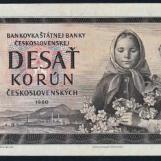 Cehoslovacia 10 Korun UNC 1960 P#88b - bancnota europa