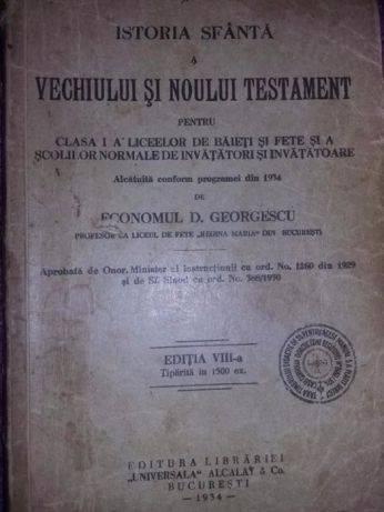Vechiul si noul testament 1934,liceelor de baieti si fete,Regina Maria,T.GRATUIT