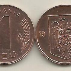 ROMANIA 1 LEU 1993 [1] XF+, livrare in cartonas - Moneda Romania, Tombac