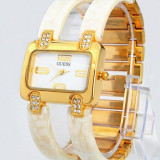 CEAS DAMA GUESS ELEGANT ICONIC IVORY GOLD&DIAMONDS-SUPERB-NOU IN TIPLA 2018, Quartz, Placat cu aur, Rezistent la apa