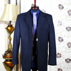 Palton barbati , bleumarin , Slim Fit , Ucu Dima , Cod :Palton B.614 Bleumarin (Culoare: Bluemarin, Marime palton: 54)