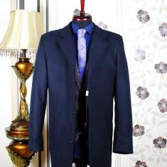 Palton barbati, bleumarin, Slim Fit, Ucu Dima, Cod :Palton B.614 Bleumarin (Culoare: Bluemarin, Marime palton: 54)