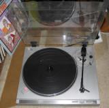 Pick-up turntable platan Sanyo TP B2 cu pitch control, belt drive,pickup deck