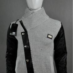 Pulover barbati,ecru-gray, Cod: 7020 ecru-gray (Culoare: Gri, Marime Vestimentatie: L)