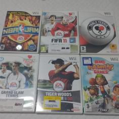 Pachet 6 Jocuri WII Activision : Fifa 11, tenis de masa, golf, NBA, tenis de camp .
