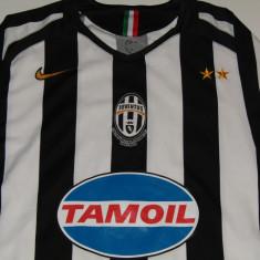 Tricou fotbal JUVENTUS TORINO (Aniversare centenar 1905-2005 - oficial) - Tricou echipa fotbal, Marime: S, Culoare: Din imagine, De club, Maneca scurta