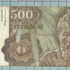 Bancnota 500 lei 1991 Ianuarie seria-D0001....689 - Bancnota romaneasca