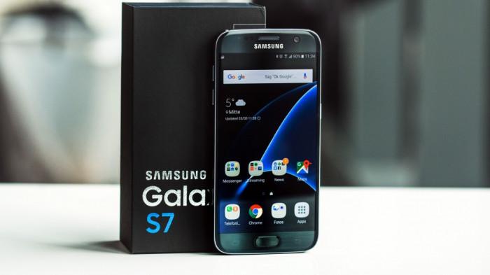 Samsung Galaxy S7 NOU, CUTIE SIGILATA, 32GB Black, 2 ani garantie emag foto mare