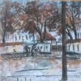 PEISAJ COTROCENI - Pictor roman, Peisaje, Acuarela, Altul