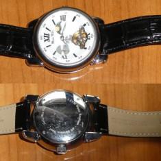 Ceas barbatesc automatic Monte Wehro, cronograf, cu fazele lunii, Mecanic-Automatic, Piele ecologica