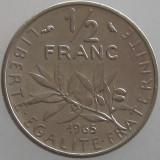 FRANTA KM#931.1 - 1/2 Francs 1965, Europa