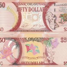 Guyana 50 Dollars 2016 Comemorativa UNC - bancnota africa