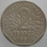 FRANTA KM#942.1 - 2 Francs 1981, Europa