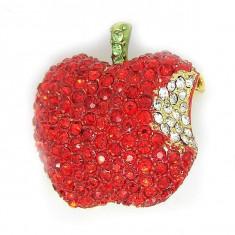 Broşă Măr Borealy - Brosa placate cu aur