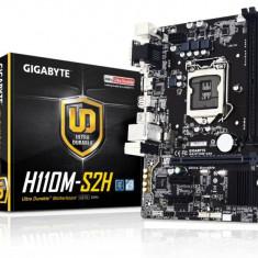Placa de baza GIGABYTE Socket LGA1151, H110M-S2H, Intel H110, 2 *DDR4, 1*PCIEx16, 2*PCIEx1, VGA/HDMI/DVI, 4*SATA3, 6CH, GigabitLAN, 4 *USB3.0, bulk, Altul, MicroATX