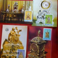 Set 9 Maxime - Ceasuri Epoca- Muzeul Ceasurilor Ploiesti 1988