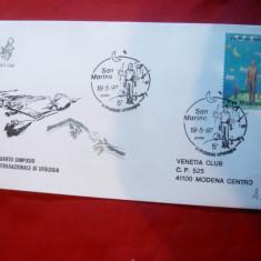 Plic FDC - Farfurii Zburatoare - Simpozion International 1997 San Marino