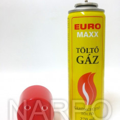 Butelie gaz spray 270ml EURO MAXX 4 adaptoare incarcat brichete, letcon etc - Tutungerie