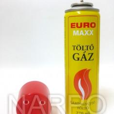 Butelie gaz spray 270ml EURO MAXX 4 adaptoare incarcat brichete, letcon etc - Tutungerie