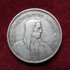 Elvetia - 5 Francs 1966 - Argint, Europa