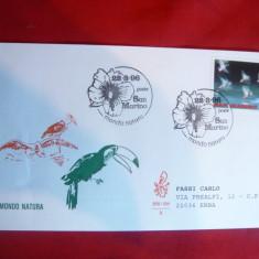 Plic FDC - Fauna - Pasari de Apa 1996 San Marino