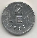 ROMANIA   RPR    2  LEI  1951    [10]   livrare in cartonas, Aluminiu