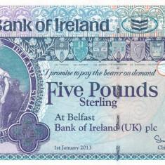 Irlanda 5 Pounds 010.01.2013 UNC - bancnota europa