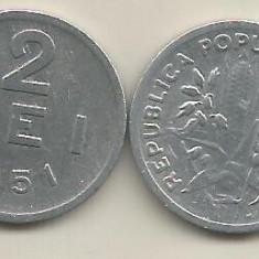 ROMANIA RPR 2 LEI 1951 [5] VF+, livrare in cartonas - Moneda Romania, Aluminiu