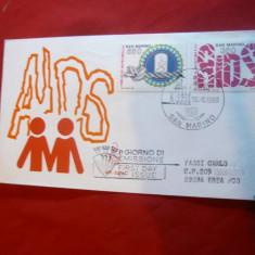 Plic FDC - Lupta contra SIDA 1988 San Marino