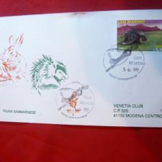 Plic FDC - Fauna 1999 San Marino